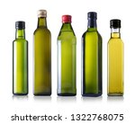 bottles of oil isolated on a... | Shutterstock . vector #1322768075