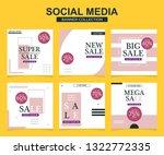 modern promotion square web... | Shutterstock .eps vector #1322772335