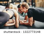 diverse group of fit people in... | Shutterstock . vector #1322773148