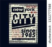 new york city urban graphic... | Shutterstock .eps vector #1322777588