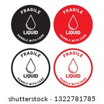 fragile liquid handle with care ... | Shutterstock .eps vector #1322781785