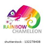 Rainbow Chameleon. Symbol...