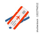 blue and red air tickets. view... | Shutterstock .eps vector #1322796512