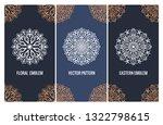 vector set of luxury packaging... | Shutterstock .eps vector #1322798615
