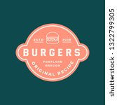 burger logo. retro styled fast... | Shutterstock .eps vector #1322799305