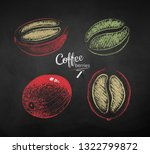 vector chalk drawn sketches set ... | Shutterstock .eps vector #1322799872
