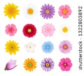 summer flowers set with... | Shutterstock .eps vector #1322803892