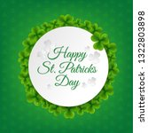 banner with clovers transparent ... | Shutterstock .eps vector #1322803898
