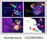 landing page templates set.... | Shutterstock .eps vector #1322809862