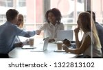 african american team leader... | Shutterstock . vector #1322813102
