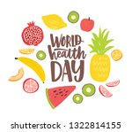 world health day postcard with... | Shutterstock .eps vector #1322814155