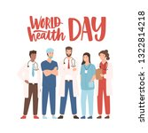 world health day banner with...   Shutterstock .eps vector #1322814218