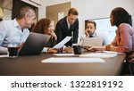 group of diverse businesspeople ... | Shutterstock . vector #1322819192
