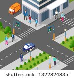 modern 3d city isometric three... | Shutterstock .eps vector #1322824835