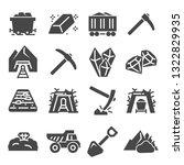 coal mining factory industry... | Shutterstock .eps vector #1322829935