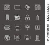outline 16 finance icon set....   Shutterstock .eps vector #1322833238