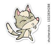 distressed sticker of a cartoon ... | Shutterstock .eps vector #1322834288