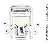 distressed sticker of a cartoon ... | Shutterstock .eps vector #1322834348
