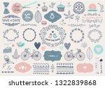 vector hand drawn doodle love... | Shutterstock .eps vector #1322839868