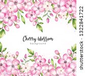 watercolor cherry blossom... | Shutterstock . vector #1322841722