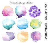 watercolor stains set | Shutterstock . vector #1322841755