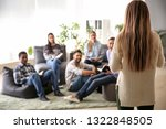 group of people at nlp training   Shutterstock . vector #1322848505