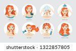 how to care for your hair and... | Shutterstock .eps vector #1322857805