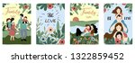ornage blue family postcard... | Shutterstock .eps vector #1322859452