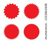 set of red retro blank...   Shutterstock .eps vector #1322862608