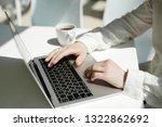 businessman working laptop for... | Shutterstock . vector #1322862692