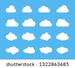 clouds silhouettes. set of... | Shutterstock . vector #1322863685
