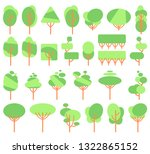 illustration  flat green trees ... | Shutterstock . vector #1322865152