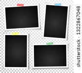 retro photo frame with shadows. | Shutterstock . vector #1322867048
