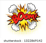 Boom Isolated White Comic Text...