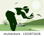 girl taking pictures on the...   Shutterstock .eps vector #1322872628