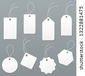 set of empty white price tags... | Shutterstock .eps vector #1322881475