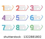 set of nine numbers with place... | Shutterstock .eps vector #1322881802