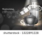 premium cosmetic ad  opened...   Shutterstock .eps vector #1322891228
