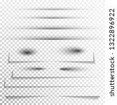 transparent realistic paper... | Shutterstock . vector #1322896922