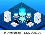 big data server security... | Shutterstock .eps vector #1322900108