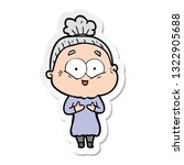 sticker of a cartoon happy old... | Shutterstock .eps vector #1322905688
