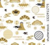 beautiful japanese seamless... | Shutterstock .eps vector #1322911775