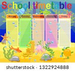 school timetable with marine... | Shutterstock .eps vector #1322924888