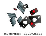 casino playing cards are...   Shutterstock .eps vector #1322926838