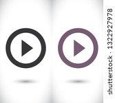 button player vector icon | Shutterstock .eps vector #1322927978