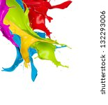 Colored Splashes In Abstract...
