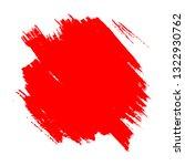 brush painted grunge red spot... | Shutterstock .eps vector #1322930762