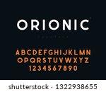vector latin uppercase alphabet ... | Shutterstock .eps vector #1322938655