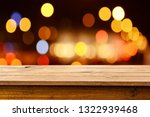 empty wooden table background | Shutterstock . vector #1322939468