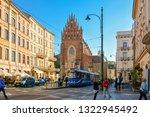 krakow  cracow  is city in... | Shutterstock . vector #1322945492